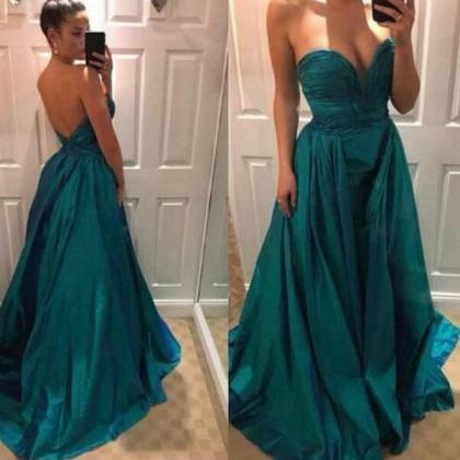 Dark Green Mermaid Prom Dress Off t..