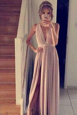 Custom made Simple A-line prom dresses,champagne chiffon long prom dress,formal dresses,formal dresses,Long Prom Dresses,Evening Dresses, Prom Dresses,Long Beading Prom Dresses, Cocktail Dresses, formal dresses,Wedding guests dresses