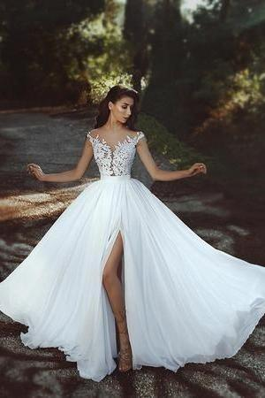 A line tulle Wedding Dress 2019