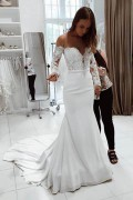 Long Wedding Dresses, Mermaid Wedding Dresses, White Wedding Dresses