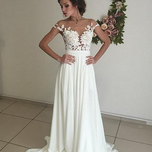Boho Beach Wedding Dresses with Side Slit