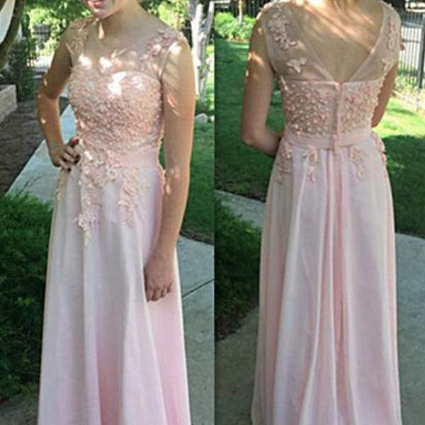 Pink Prom Dress,Scoop Prom Dress,Pretty Prom Dress,Prom Dress, Party Prom Dress,Long Prom Dress,Prom Dresses,